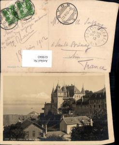 619043,Nyon Chateau et Mont Blanc