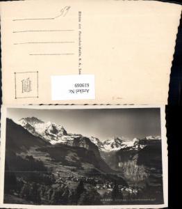 619069,Foto Ak Wengen Jungfrau u. Lauterbrunnen