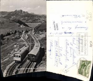 619093,Foto Ak Rigi-Bahnen unterhalb Rigi-Kulm Arth Bergbahn