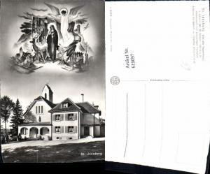 619097,Fotomontage Kirchberg St Iddaburg Toggenburg b. Gähwil