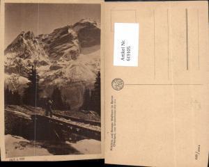 619105,Breitenboden Trub Kleines u. Grosses Wellhorn v. Breitenboden-Alp aus Wanderer