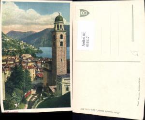 619117,Lugano Ansicht m. Kirche