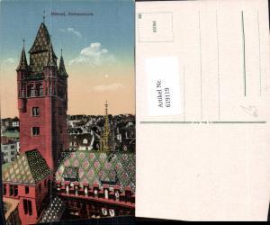619119,Basel Rathausturm Rathaus