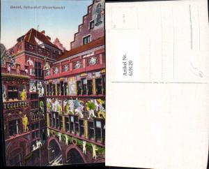 619120,Basel Rathaushof Hinterfassade Rathaus