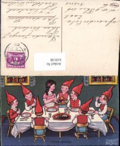 619138,Künstler AK Margret Boriss Schneewittchen u.d. Sieben Zwerge Märchen