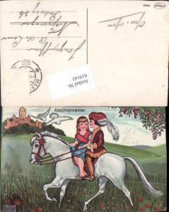 619141,Künstler AK Margret Boriss Aschenbrödel Pferd Märchen Aschenputtel
