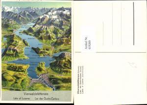 619269,Lagekarte Vierwaldstättersee Lac des Quatre-Cantons Luzern