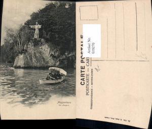 619270,Meggenhorn b. Luzern Statue a. Ufer Ruderboot Boot pub E. Goetz 1753