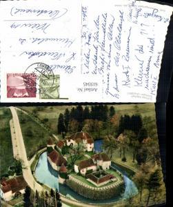 619345,Luftbild Schloss Hallwil Seengen Aargau