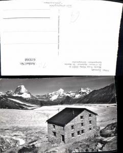 619368,Foto Ak Zermatt Monte Rosa Hütte Matterhorn Obergabelhorn Gornergletscher