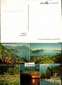 619439,Mehrbild Ak Vitznau Vierwaldstättersee Bergbahn