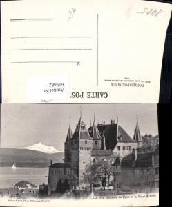 619482,Nyon Chateau de Nyon et le Mont Blanc
