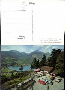 619499,Filzbach Cafe Kerenzer-Berghus Blick auf Weesen u. Walensee Bus Auto