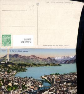 619555,Luzern u. d. Rigi v. Gütsch gesehen pub E. Goetz 4540