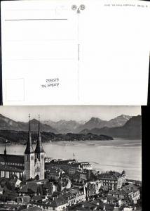 619562,Foto Ak Luzern u. d. Alpen