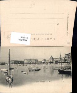 619569,Geneve Genf Le port Hafen Segelboote Boote