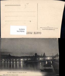 619575,Geneve Genf a 11 heures du soir Schiffe Dampfer b. Nacht