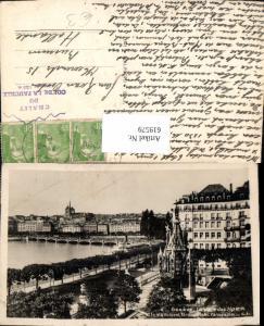 619579,Geneve Genf La place des Alpes et le monument Brunswick Panorama