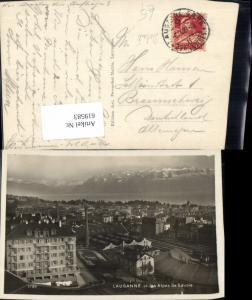 619583,Foto Ak Lausanne et les Alpes de Savoie Detail Bahnhof Gleise Fabrik