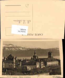 619585,Lausanne Chateau et Cathedrale Kathedrale