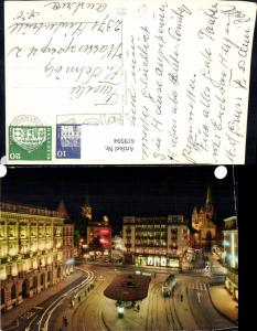 619594,Foto Ak Zürich Paradeplatz b. Nacht