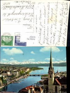 619597,Zürich Fraumünster See u. Alpen