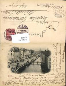 619602,Litho Zürich Limmat-Quai Limmatquai 1897