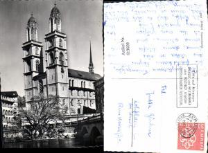 619609,Foto Ak Zürich Grossmünster