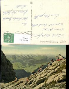 619612,Säntis Blick geg. Curfirsten Ort Appenzell