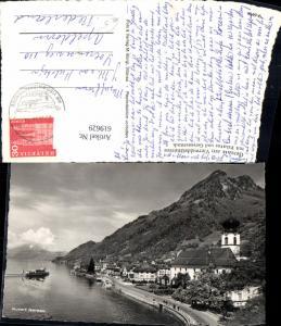 619629,Foto Ak Gersau a. Vierwaldstättersee m. Pilatus u. Gersauerstock
