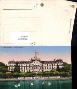 619665,Geneve Genf Hotel National Schwan Schwäne