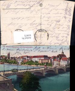 619675,Basel Mittlere Rheinbrücke m. Rheinpanorama