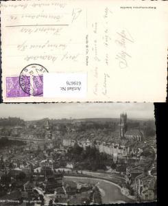 619676,Foto Ak Fribourg Freiburg Vue generale