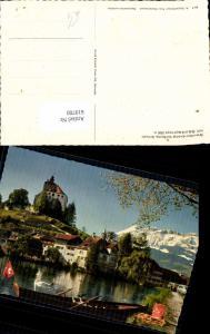 619700,Werdenberg b. Buchs m. Säntisgruppe Schloss Werdenberg