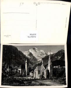 619704,Foto Ak Interlaken Katholische prostestantische u. Englische Kirche