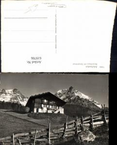 619706,Foto Ak Adelboden Bauernhaus m. Grosslohner