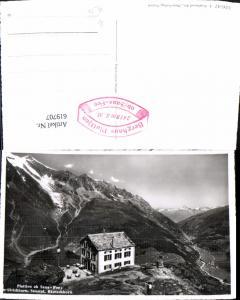 619707,Foto Ak Plattjen ob Saas-Fee Ulrichhorn Saastal Bietschhorn