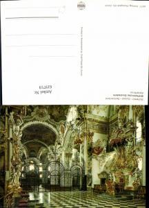 619719,Stiftskirche Einsiedeln Abtsthron Innenansicht