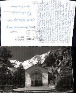 619734,Foto Ak Saas-Fee Maria z. Hohen Stiege Alphubel Täschhorn Dom
