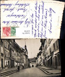 619738,Foto Ak Lenzburg Strassenmotiv Rathausgasse