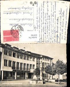 619740,Foto Ak Lenzburg Neues Amtsgebäude Brunnen