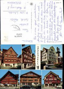 619752,Mehrbild Ak Appenzell Hotel Säntis Wirtschaft zur Traube