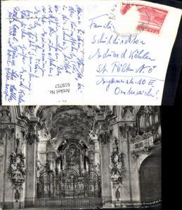 619757,Foto Ak Einsiedeln Kloster u. Wallfahrtskirche Innenansicht