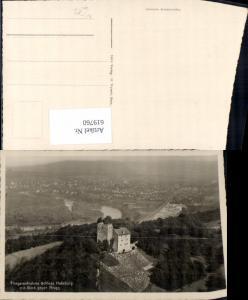 619760,Fliegeraufnahme Gemeinde Habsburg Schloss Habsburg m. Blick geg. Brugg