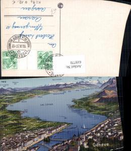 619770,Lagekarte Geneve Genf Lac Leman