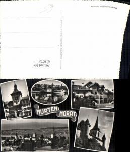 619778,Mehrbild Ak Murten Morat Stadttor Rübenloch Le Port