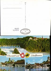 619790,Mehrbild Ak Rheinfall u. Schaffhausen Schiffe Dampfer Neuhausen am Rheinfall