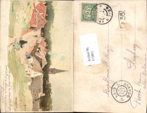 619801,Lithographie Henri Cassiers Domburg