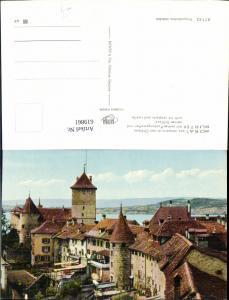 619861,Morat Murten Chateau Festungswall u. Schloss