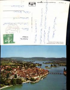 619864,Fliegeraufnahme Stein a. Rhein m. Insel Werd u. Untersee